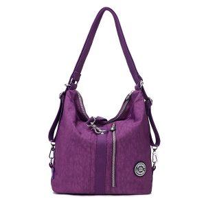 Jinqiaoer Women Waterproof Nylon Lightweight Multifunction Handbag Backpack_001