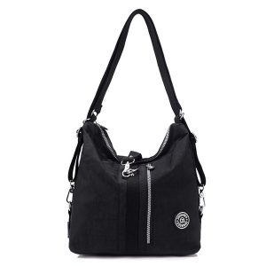 Jinqiaoer Women Waterproof Nylon Lightweight Multifunction Handbag Backpack_013