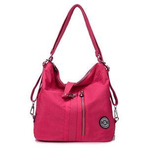 Jinqiaoer Women Waterproof Nylon Lightweight Multifunction Handbag Backpack_014