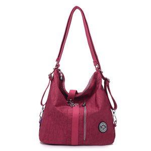 Jinqiaoer Women Waterproof Nylon Lightweight Multifunction Handbag Backpack_015