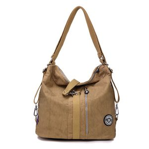 Jinqiaoer Women Waterproof Nylon Lightweight Multifunction Handbag Backpack_017