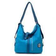 Jinqiaoer Women Waterproof Nylon Lightweight Multifunction Handbag Backpack_018