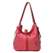 Jinqiaoer Women Waterproof Nylon Lightweight Multifunction Handbag Backpack_019