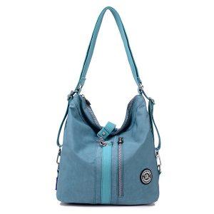 Jinqiaoer Women Waterproof Nylon Lightweight Multifunction Handbag Backpack_020